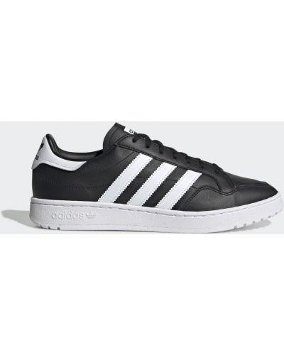 Мягкие кожаные черные кроссовки Adidas