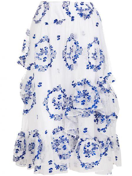 Spódnica midi niebieska na gumce Simone Rocha