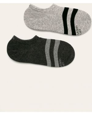 Szare skarpety wełniane z printem Calvin Klein