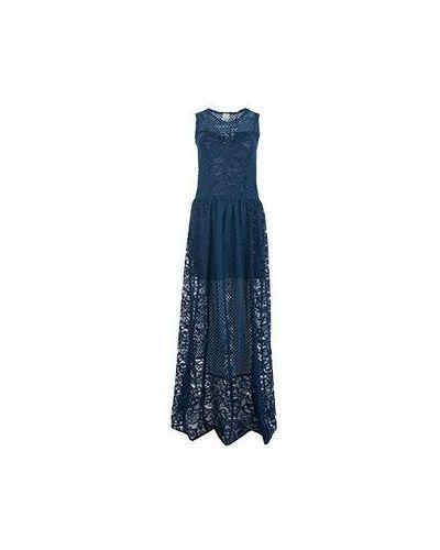 Синее вечернее платье Pinko