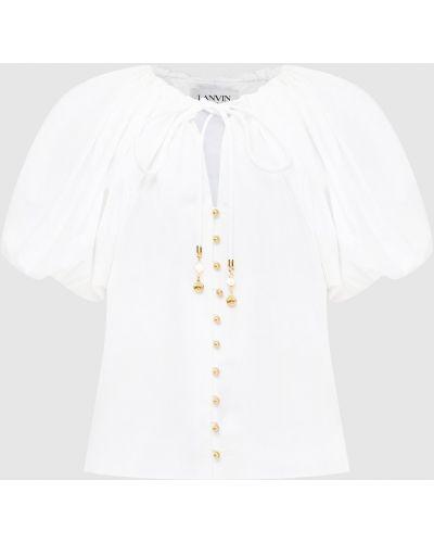 Блузка - белая Lanvin