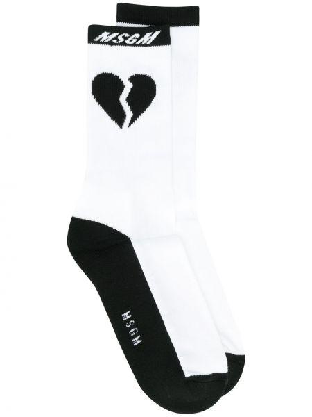 Хлопковые черные носки Msgm