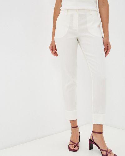 Белые зауженные брюки энсо
