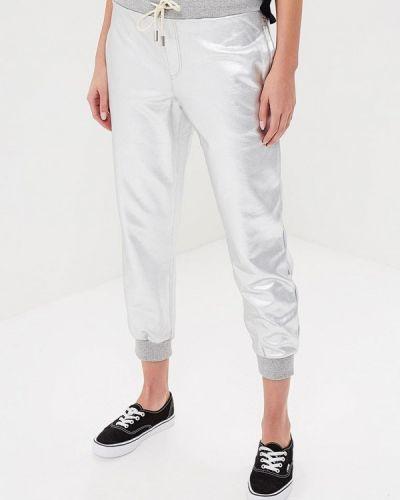 Спортивные брюки серебряного цвета Eleven Paris