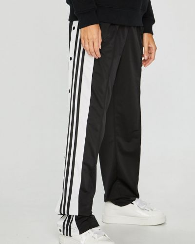 Брюки на резинке с карманами с завышенной талией Adidas Originals