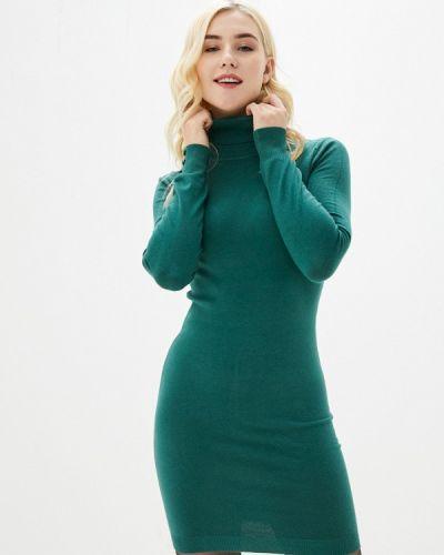 Вязаное зеленое трикотажное платье B.style
