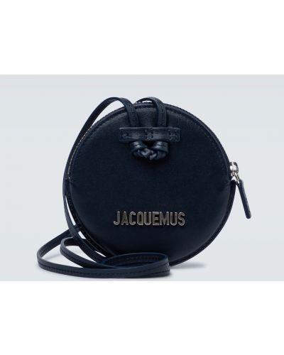 С ремешком маленькая сумка из натуральной кожи круглая Jacquemus