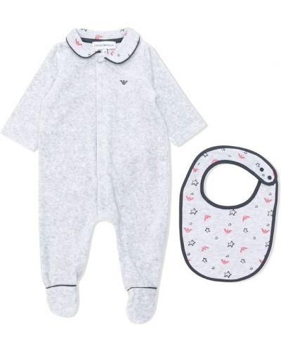 Пижама серая с воротником Emporio Armani Kids