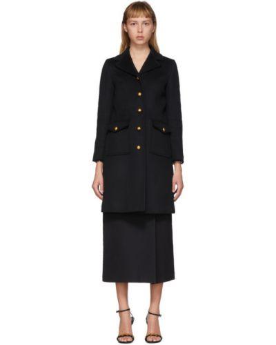 Długi płaszcz z kieszeniami z kołnierzem Gucci