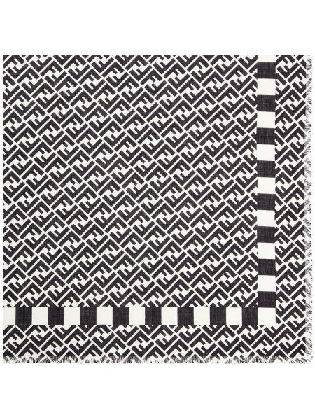 Черный шелковый платок Fendi