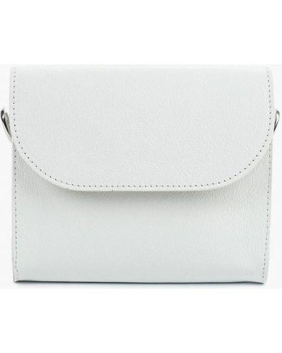 Кожаная сумка поясная белый Madeleine