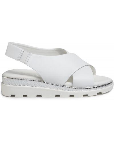 Босоножки на каблуке - белые The Flexx