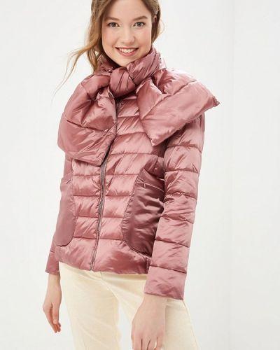 Утепленная куртка весенняя розовая Grishko