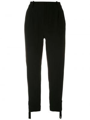 Spodnie z wysokim stanem czarne z kieszeniami Gloria Coelho