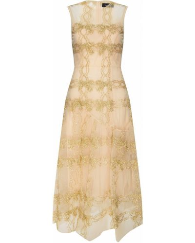 Вечернее платье миди на молнии Simone Rocha