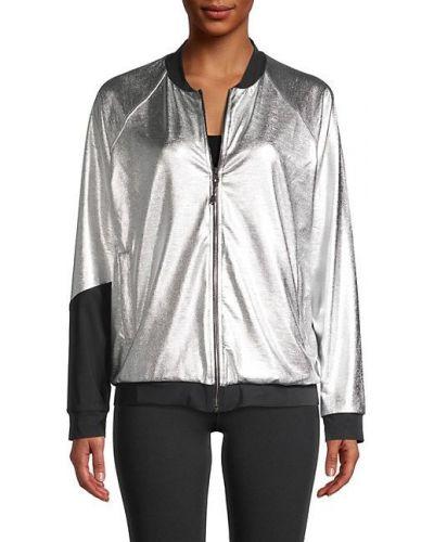Czarna długa kurtka z nylonu z raglanowymi rękawami Koral