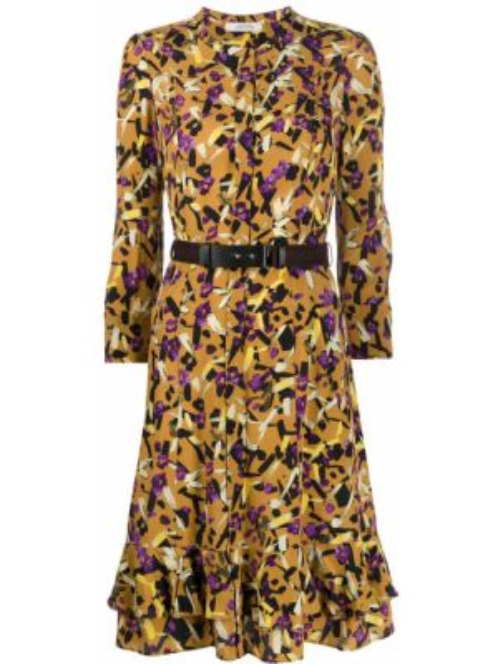 Платье с поясом трапеция с рукавами Dorothee Schumacher
