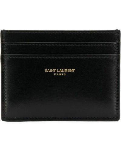 Визитница черная Saint Laurent