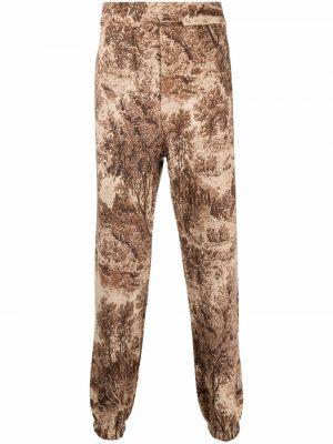 Brązowe spodnie z wiskozy Buscemi