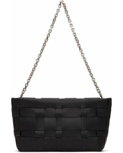 Czarny torebka na łańcuszku prążkowany z prawdziwej skóry 3.1 Phillip Lim