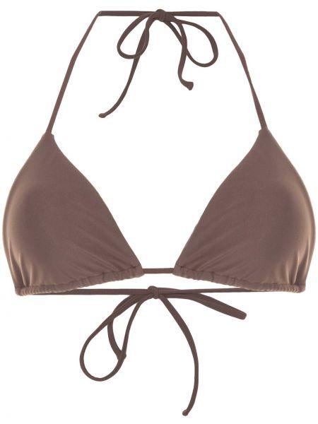 Пляжные нейлоновые коричневые бикини с завязками Matteau
