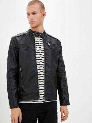 Черная кожаная куртка осенняя Colin's