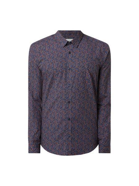 Niebieska koszula slim bawełniana z długimi rękawami Ben Sherman