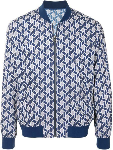 Белая длинная куртка с манжетами с карманами с воротником D'urban
