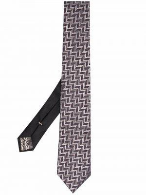 Krawat srebrny - czarny Missoni