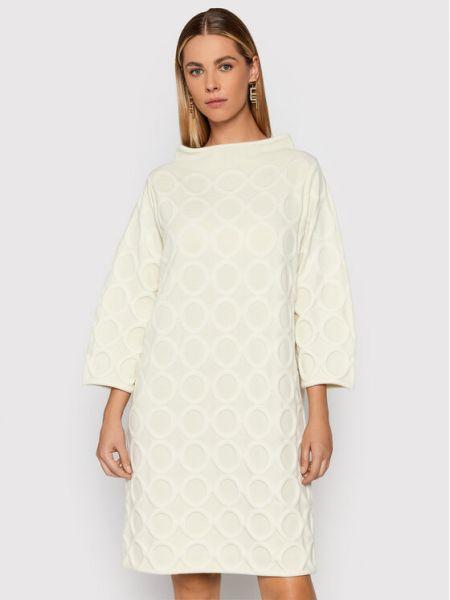 Beżowa sukienka oversize Liviana Conti