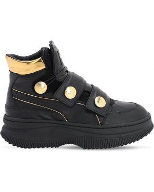 Czarne sneakersy skorzane Puma X Balmain