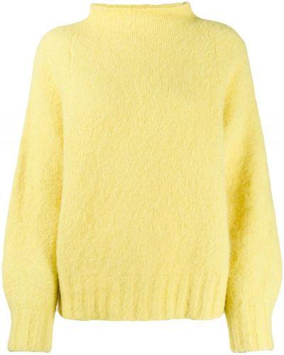 Джемпер желтый с декольте Equipment