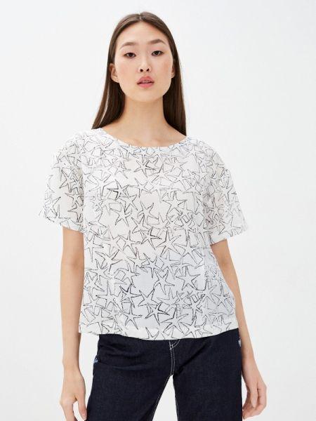 Блузка с коротким рукавом белая весенний Max&co
