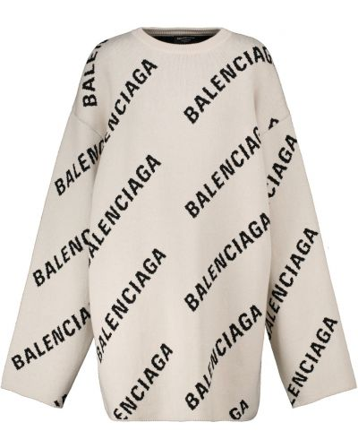 Шерстяной свитер - белый Balenciaga
