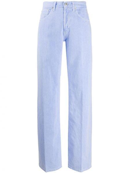 Пляжные прямые широкие джинсы с поясом Dondup