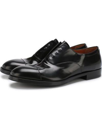 Туфли без шнуровки кожаные Premiata