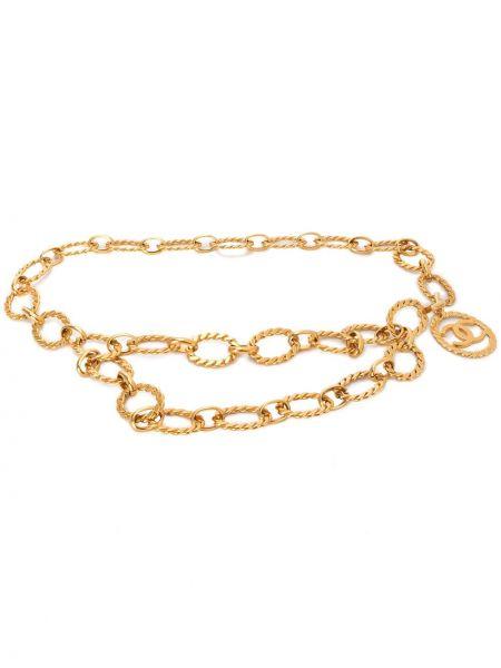 Золотистый желтый ремень позолоченный Chanel Pre-owned