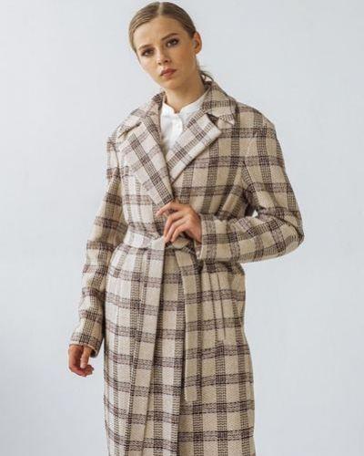 Зеленое шерстяное пальто с запахом Vovk