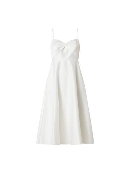 Biała satynowa sukienka koktajlowa rozkloszowana Jake*s Cocktail