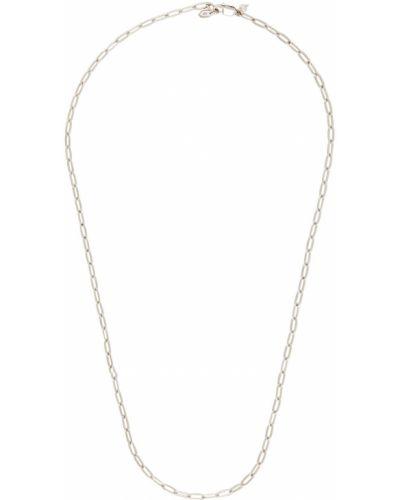 Naszyjnik łańcuch srebrny - biały Maria Black
