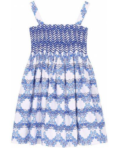 Платье мини в рубчик на тонких бретелях Oscar De La Renta