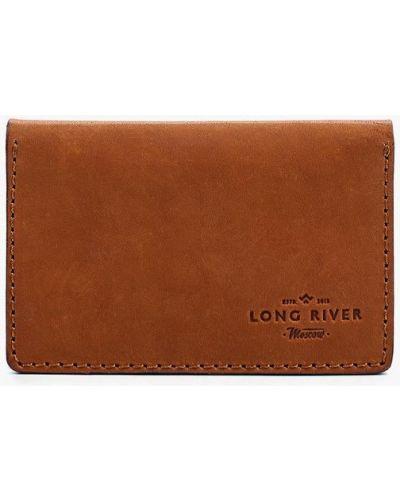 Оранжевая визитница Long River
