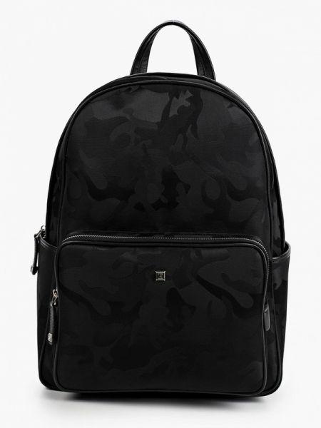 Кожаный черный рюкзак Eleganzza