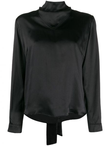 Блузка с длинным рукавом в полоску с воротником-стойкой Le Kasha