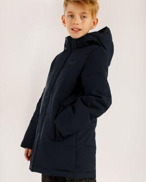 Пальто темно-синий из вискозы Finn Flare