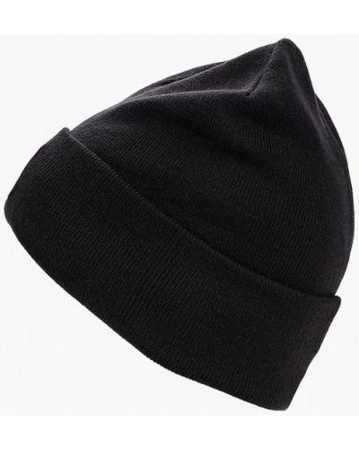 Черная шапка осенняя Adidas