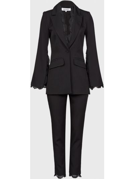 Костюмный черный костюм на молнии Elliatt