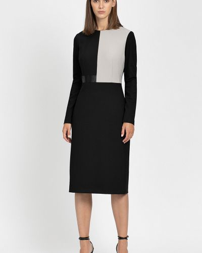 Облегающее платье миди - черное Vassa&co