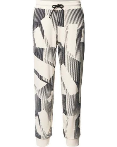 Białe spodnie prążkowane Adidas Performance