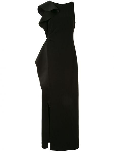 Приталенное вечернее платье с драпировкой без рукавов с вырезом Black Halo